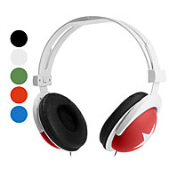Headphone 3.5mm Over Ear Stereo Volume Control for Media Player/Tablet(Assorted Colors)