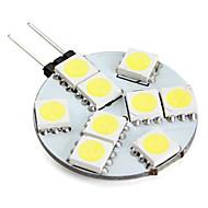 G4 2W 9 SMD 5050 100 LM Natural White LED Bi-pin Lights V
