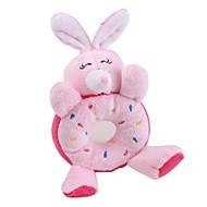 개를위한 토끼 도넛 스타일 삑 애완 동물 장난감 (16 × 10 × 3, 핑크)