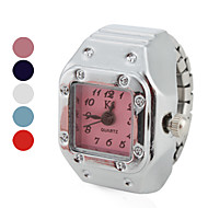 Women's Elegant Square Style Alloy Analog Quartz Ring Watch (Assorted Colors) Cool Watches Unique Watches