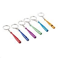 batte de baseball en métal de style chaîne de sifflet clé (couleur aléatoire)