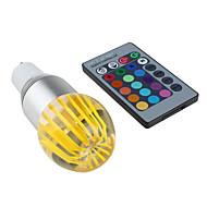 Ampoules Globe Commandée à Distance RGB/Couleurs Changeantes GU10 3 W 1 LED Haute Puissance 300 LM RGB K AC 85-265 V