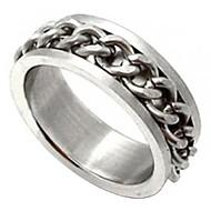 unisex metalliketjuja titaani sormus