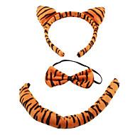peluche 3-en-1 belle tigre Casques bandeau + noeud papillon + de costume queue pour halloween mascarade