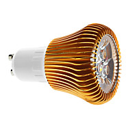 Dimmable GU10 6W 540-600LM 3000-3500K Warm White Light Gold Shell LED Spot Bulb (220V)