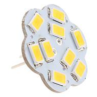G4 2,5w 9x5630 smd 200-230lm 3000-3500k lämmin valkoinen valo lootusmuotoinen pystysuora nastainen led-polttimo (12v)