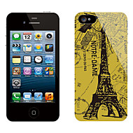 Retro Design Eiffel Tower Mønster Beskyttende Sticker til iPhone 5