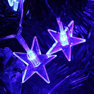 2.8M 20-LED Star Shaped Blue Light String Fairy Lamp for Christmas (3xAA)