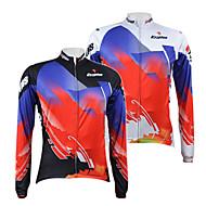 KOOPLUS® Camisa para Ciclismo Homens Manga Comprida Respirável / Secagem Rápida / Zíper Frontal Moto Camisa/Fietsshirt / Blusas100%