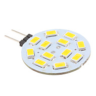 2W G4 LED Bi-pin Lights 12 SMD 5630 220 lm Warm White DC 12 V