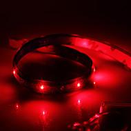 Waterproof 60cm 24-LED Red LED Strip Light (12V)