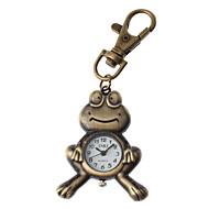 Unisex Frog Design Alloy Analog Quartz Keychain Watch (Bronze)
