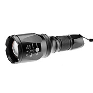 LED Flashlights/Torch / Handheld Flashlights/Torch LED 5 Mode 1000 Lumens Adjustable Focus Cree XM-L T6 18650 Others , BlackAluminum