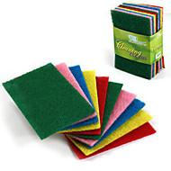 10pcs conjunto colorido esfregando almofada paqueteria pano pano de limpeza toalhetes forte descontaminação toalhas de prato