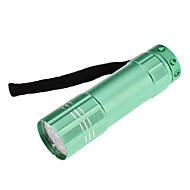 LED Flashlights/Torch / Handheld Flashlights/Torch LED 1 Mode Lumens Waterproof Others AAA Others , Blue / Green / Grey Aluminum alloy