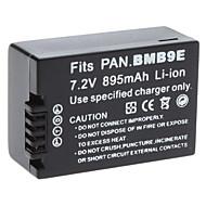 Vidéo Numérique Panasonic Batterie Remplacer BMB9E pour Panasonic DMC-FZ45 et plus (7,2 V, 895 mAh)