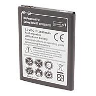 bateria de lítio recarregável substituir Samsung Galaxy nota GT-N7000 i9220 (3,7 V, 2600 mAh)