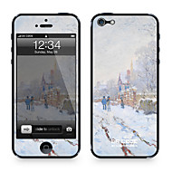 "Da Kode ™ Skin for iPhone 4/4S: ""Snow Scene i Argenteuil"" av Claude Monet (Mesterverk Series)"