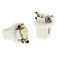 B8.5 0.5W 2x3528SMD White Light LED Bulb for Car Instrument Lamp (DC 12V, 1-Pair)
