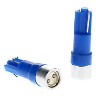 T5 0.5W Blue Light LED-lamppu auton Instrument Lamput (DC 12V, 1-Pair)