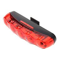 opvallende fiets veiligheid achter 5-LED-licht fy-20118 (rood)