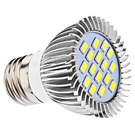 DAIWL E27 5W 16x5630SMD 400-450LM 6000-6500K Natural White Light LED Spot Bulb (110/220V)