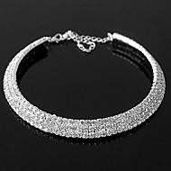 모조 다이아몬드 여자의 목걸이와 절묘한 합금