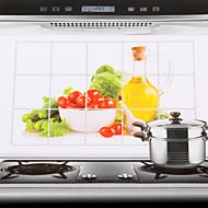 75x45cm legumes padrão à prova de água parede da cozinha adesivo à prova de óleo