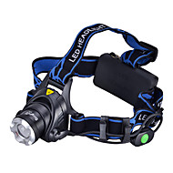 LED Flashlights / Headlamps LED 3 طريقة 1000 شمعة Cree XM-L T6 18650 Camping/Hiking/Caving / Everyday Use / أخضر / الصيد - آخرون , أسود