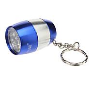 Smallsun ZY-8866 Single-Mode 6xLED Flashlight with Key Ring (80LM, 2xCR2032, Blue)