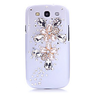 Water Drop Pearl Flower Back Case for Samsung Galaxy S3 I9300