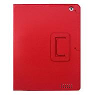 Lichi Grain Auto Sleep og Wake-Up PU lærveske med stativ for iPad 2/3/4 (valgfrie farger)