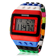 Women's Watch Sports Digital Rainbow Block Brick Style Cool Watches Unique Watches