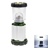 2-Mode Camping Lantern (3xaa, Grønn + sølv)