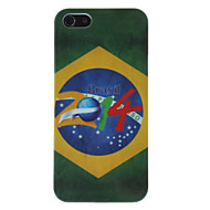 2014 Brazilian Football Pattern Hard Case for iPhone 5/5S