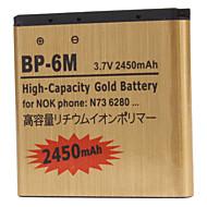 BP-6M-GD 2450mAh mobiele telefoon batterij voor Nokia 3250 3250 Xpress Music, 6151,6233,6280,6288,9300,9300 i, N73, N73 Music Edition, N77, N93