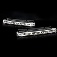 White LED with 8 LED Daytime Running Lights Set (2 PCS)