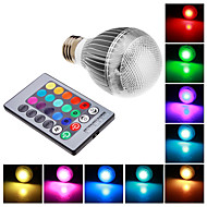E26/E27 9 W Integrate LED RGB LM RGB Remote-Controlled Globe Bulbs AC 85-265 V
