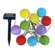 10-LED Cool White LED Solar-Laterne Hochzeit Outdoor Christmas String Light Garden Lampe