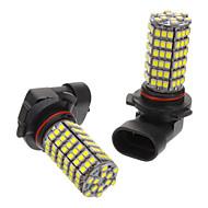 9006 אור מגניב 6W 118x3528SMD 530-6000-560LM 6500K לבן הנורה LED עבור רכב (12V)