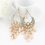 Bohemian Pink Resin Teardrop  Dangle Earrings for Women
