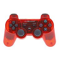 Bluetooth Wireless Controller Funda para Sony PS3 (rojo transparente)