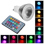 GU10 3 W 100 LM RGB Remote-Controlled Spot Lights AC 100-240 V