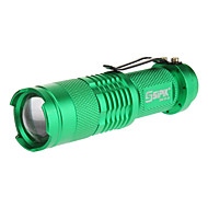 SIPIK SK68 Single-Mode Cree XP-E Q5 LED Flashlight z klipsem (240LM, 1xAA, zielony)