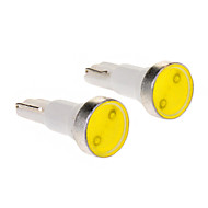 T5 1W 1-LED 6000K Cool White Light LED Bulb for Car (12V,2pcs)