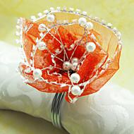 O casamento floral Lace Guardanapo Set Ring Of 12, Dia 4,5 centímetros