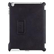 couverture noire 2 cas de haute standrad oblique transversale du modèle plié coquille de protection en cuir PU pour ipad 3/4