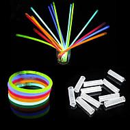 100szt 6-kolorowy kolor mieszane Świetlówki Bransoletki Noc Glow Stick (kolor losowo)