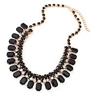 European Gold Alloy Chain Necklace(Green,Black,White) (1 Pc)