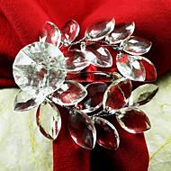 Akryl Leaf Wedding Servett Ring Set Of 12, akryl Dia 4,5 cm